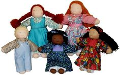 assortment of 16in waldorf dolls made from our kit