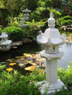 Dekorative chinesische Lampe Gartenfiguren Frostfrei