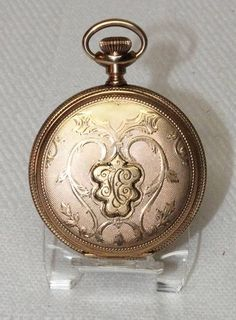 Antique 1899 Elgin Gold Filled Full Hunter Case Pocket Watch #Elgin