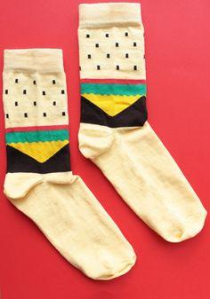 geometric sock pattern