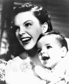Judy Garland and daughter Liza Minelli.