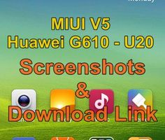 MIUI V5 ROM for Huawei G610 - U20 by Ahmed Ali Shah Screenshots and Download Link along with Instructions #INCPak