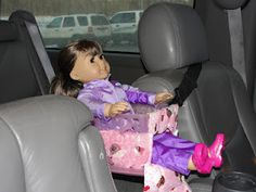 How to make a car seat for your American Girl doll.