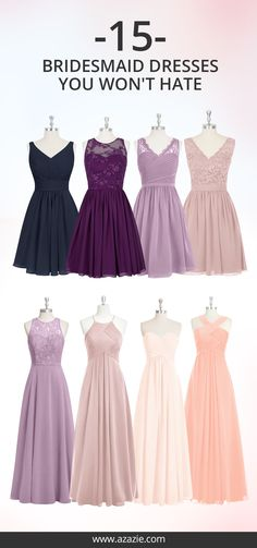 100+ on-trend styles, available in 50+ colors. Dresses your bridesmaids would love to wear again and again!
