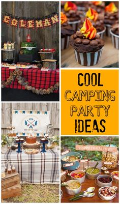 Birthday event that will be considered for a long time, plan a birthday party camping. You need to create a theme for your event to accommodate your crowd. There are many different themes you can do for a camping party. Camping Party Decorations, Camping Parties, Camping Themed Party, Outdoor Parties, First Birthday Camping Theme, Adult Camping Party, Camping Party Games, Parties Kids, Camping Activities