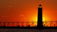 Grand Haven Michigan Sunset by KevinPovenz, via 500px