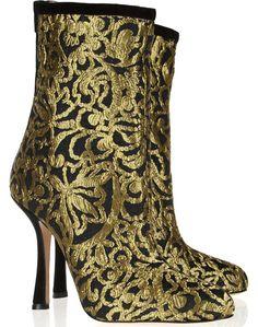 Oscar de la Renta Ella Brocade Ankle Boots