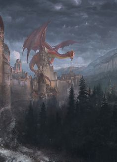 And so the dragon had conquered the castle everyone ran to get away from the crimson Titan even the soldiers abandoned their positions however one lone woman took up a sword from the ground and ran to the dragon this was her hour of courage against a foe that the knights in their prime would not face