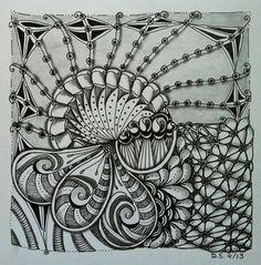 Didisch website: Blind string #DivaChallenge 116 #Zentangle