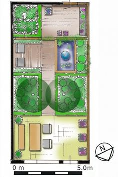 Different rooms or athmospheres make a small garden bigger and create depth. | Werk in een kleine tuin met tuinkamers en creëer zo diepte. De kleine tuin oogt dan groter. (c)De Tuinen van Appeltern