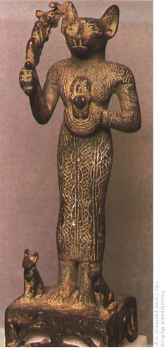 Bastet, the ancient Egyptian cat goddess, can be traced back as far as BC Egyptian Cat Goddess, Egyptian Cats, Cats In Ancient Egypt, Ancient History, Cat Statue, Ancient Artifacts, Ancient Civilizations, Gods And Goddesses, Statues