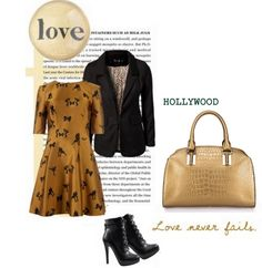 Geanta din piele naturala HOLLYWOOD Hollywood, Love Never Fails, Milk Jug, Autumn, Polyvore, Image, Collection, Fashion, Moda