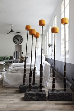 The Paris home of interior designer Paola Navone. Photo by Enrico Conti. Via automatism: Peaceful in Paris