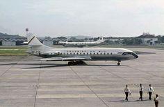 Sud Aviation Caravelle SE 210, Cruzeiro do Sul Brazilian Airlines ( former Syndicato Condor ) , Galeão Airport, Rio de Janeiro, Brazil, circa 1968,