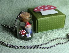 Gnome sweet Gnome Terrarium necklace by TheNomiFaerie on Etsy, £19.99