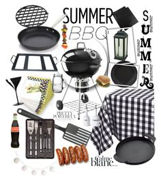 """B&W BBQ!"" by bryanmiranda02 on Polyvore featuring interior, interiors, interior design, hogar, home decor, interior decorating, Design Imports, MacKenzie-Childs, Crate and Barrel y Areaware"