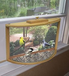 In-House Window Bird Feeder. My mom would love this!!