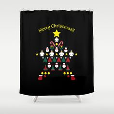 FLAT CHRISTMAS series -CHRISTMAS STAR_B Shower Curtain by SEOL.D - $68.00