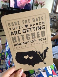 """Save the date - like the concept. No Disney. No """"getting hitched."""""""