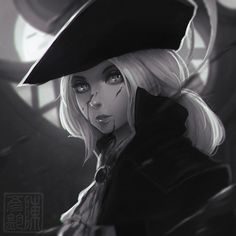 www.pixiv.net/member.php?id=12… instagram.com/koyori_n Portrait of Lady Maria from Bloodborne's The Old Hunters DLC! (Previous Souls fanart)
