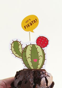 Let's Fiesta - cupcake toppers free printable #free #download