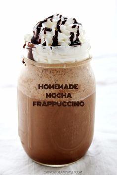 Homemade Mocha Frappuccino Recipe that you can easily make at home at a fraction of cost you pay at a coffee shop. Easy step by step recipe that you can make in 2 mins.