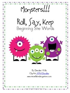 Super cute monsters make this familiar game just perfect for your Halloween themed literacy stations or word work.60 high frequency words are i...