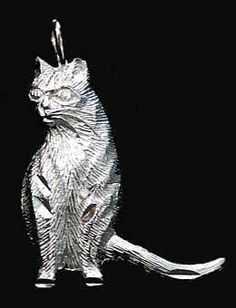 0619 House Cat Sterling Silver Charm Pendant Jewelry   eBay