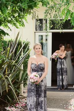 What fun textured bridesmaids dresses! By tedbaker.com Photography by louisabaileyweddings.com