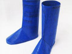 Totally Cool and Easy to Make Recycled Plastic Bags Rain Boots