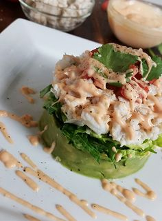 Try out our recipe for the Spicy Crab & Avocado Salad Stack featuring Wholly Guacamole® Chunky Avocado Dip!