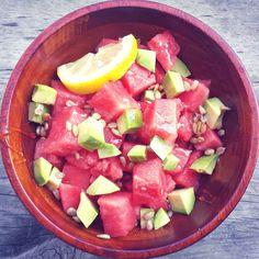 Light & Fresh Honey Watermelon Avocado Salad