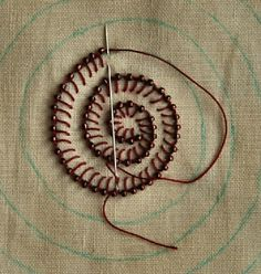 buttonhole stitch with bead