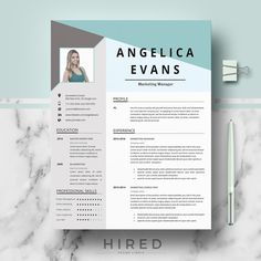 Professional & Modern Resume Template for Word: Angelica - 100% Editable. - Instant Digital Download. - US Letter & A4 size format included. - Mac & PC Compatible using Ms Word. - If you like this template, but you prefer to use it without a photo, just delete it. ► PROMO CODES: --> Get 30% OFF on 2 templates with the code HIRED30 --> Get 35% OFF on 3 templates with the code HIRED35