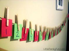Little Family Fun: Christmas...Christmas countdown activities for kids