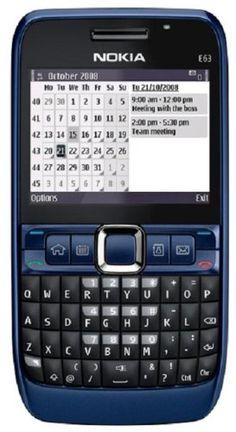 Nokia E63-2 Unlocked Phone with 2 MP Camera, 3G,