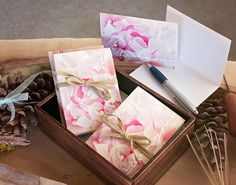 Thank you Card Treasury Box Set Wedding by Gwengibsonphotograph