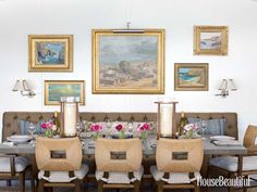 A 10-foot-long banquette makes the dining area one of the most inviting spots in this house.