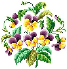 Sajou Pansies found on  http://www.roland-designs.com/freecharts.htm