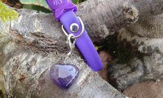 Your place to buy and sell all things handmade Pet Charm, Cat Collars, Amethyst Gemstone, Organza Bags, Pet Accessories, Your Pet, Dog Cat, Charms, Gemstones