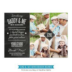 INSTANT DOWNLOAD - Father's Day Mini Session template - Photoshop template - E812
