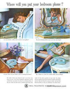 Vintage telephone ad
