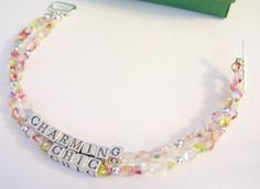Simply Shop|323: Fun, Colorful pastel bracelet that spells out your colorful style!