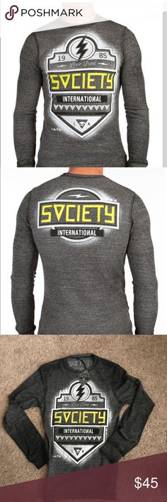 NWT MENS BUCKLE SOCIETY ALONE THERMAL SHIRT NWT MENS BUCKLE SOCIETY ALONE THERMAL SHIRT SIZES MEDIUM AND LARGE AVAILABLE!!! Buckle Shirts Tees - Long Sleeve