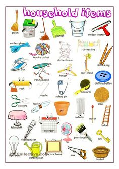 Forum | ________ Learn English | Fluent LandVocabulary: Household Items | Fluent Land
