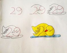 This is cute! How to teach a child to draw using numbers
