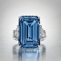The Oppenheimer Blue diamond sold for $57.5 million (CHF56,837,000), the most expensive jewel ever sold at auction. Christie's