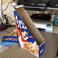 Love this. Upcycled Cereal boxes. YOU WOULD NEVER RUN OUT OF BOOK BOXES or Magazine Holders!