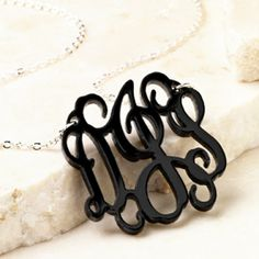 Trendy, preppy, stylish, and personalized just for you! Get yours at www.thepreppypair.storenvy.com  Monogram Acrylic or Name Necklace