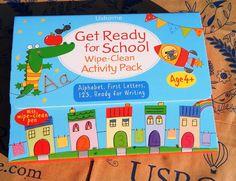 Călători printre cărți: Usborne Get ready for school Wipe - Clean Activity...